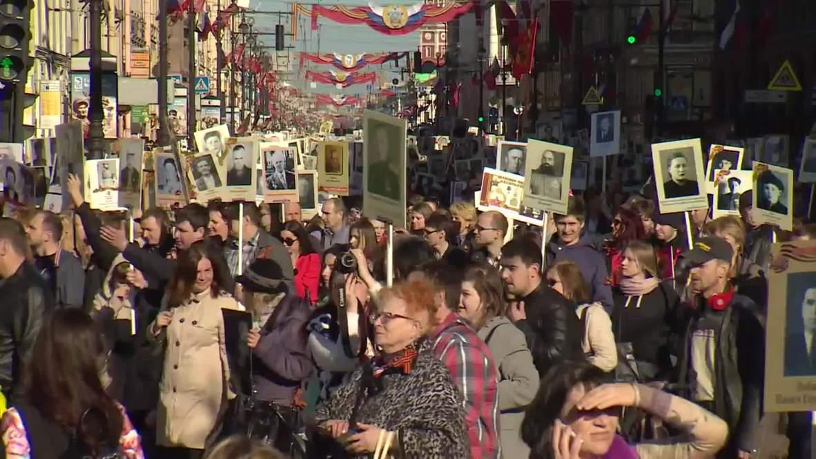 Russia: 100,000 take part in St. Petersburg Immortal Regiment march