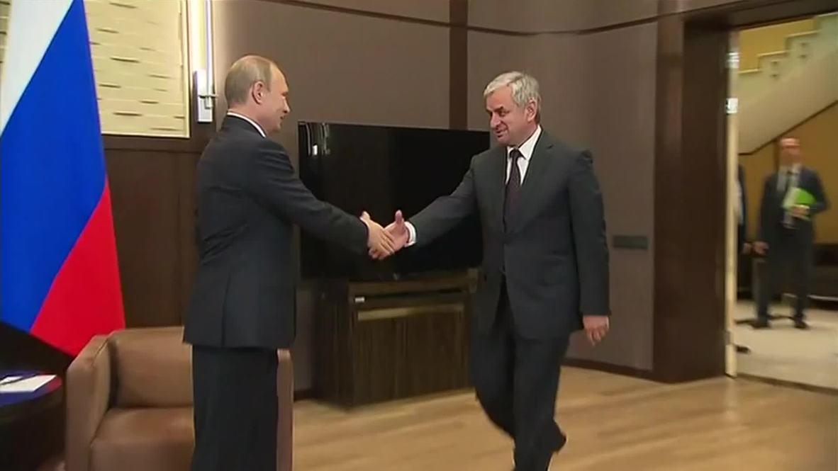 Russia: Putin discusses defence partnership with Abkhazian President Khajimba