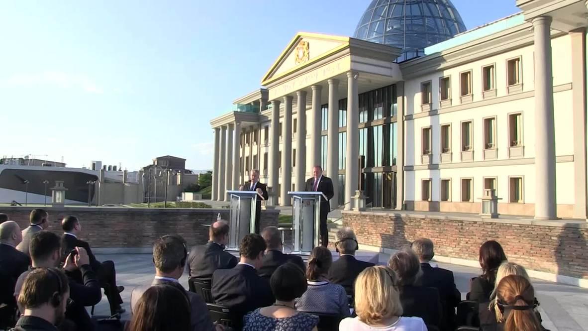 """Georgia: """"Minsk agreement must be respected"""" - Austrian President Fischer"""