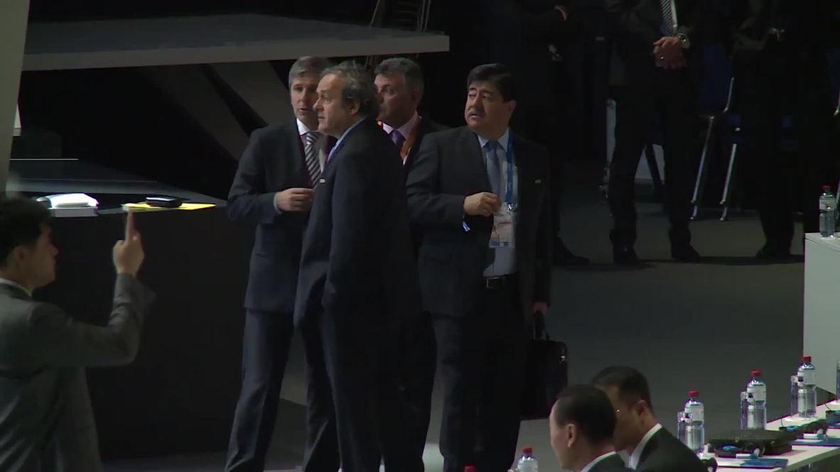 Switzerland: FIFA officials prepare to vote at 65th congress