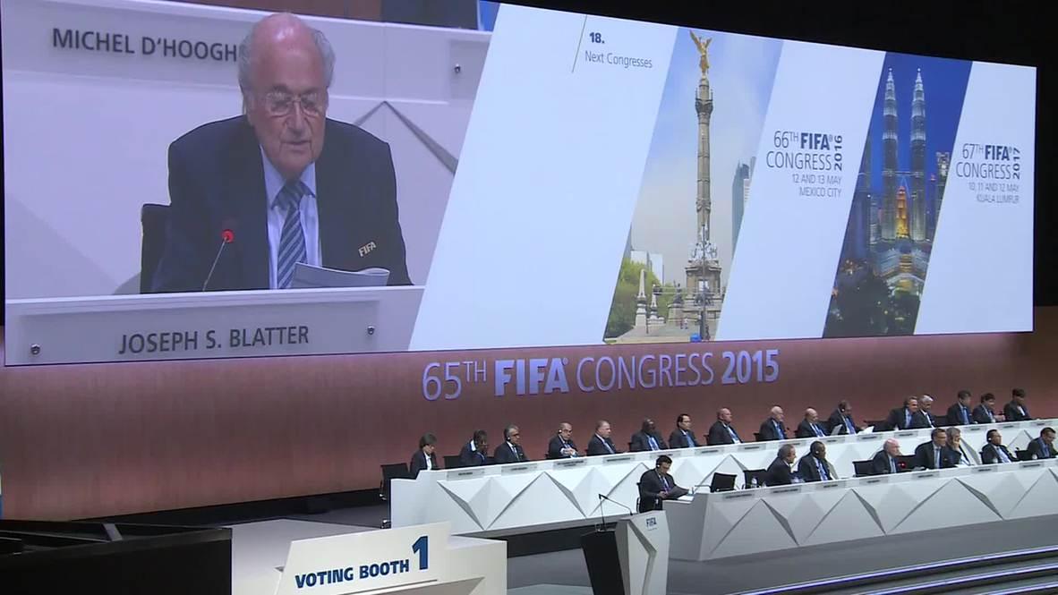 "Switzerland: ""I am the president of everybody now,"" says FIFA President Sepp Blatter"