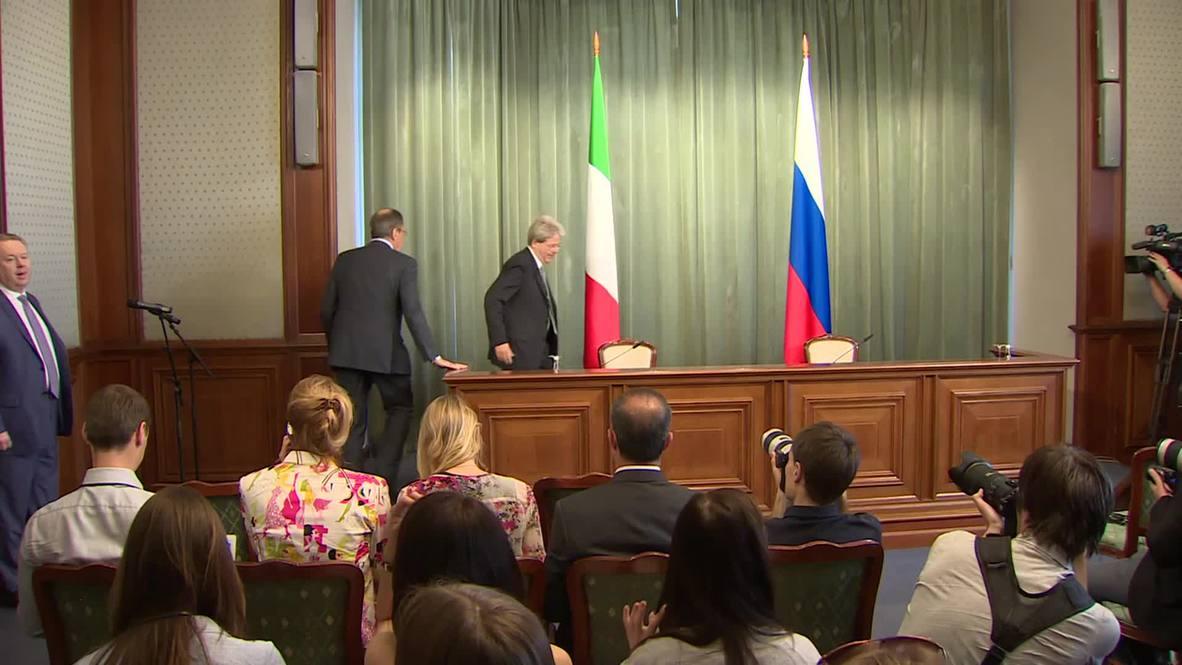 Russia: Lavrov says the principle of reciprocity led to EU 'blacklist'