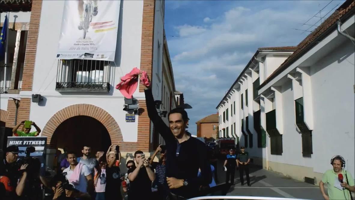 Spain: Thousands celebrate with Giro d'Italia champ Alberto Contador