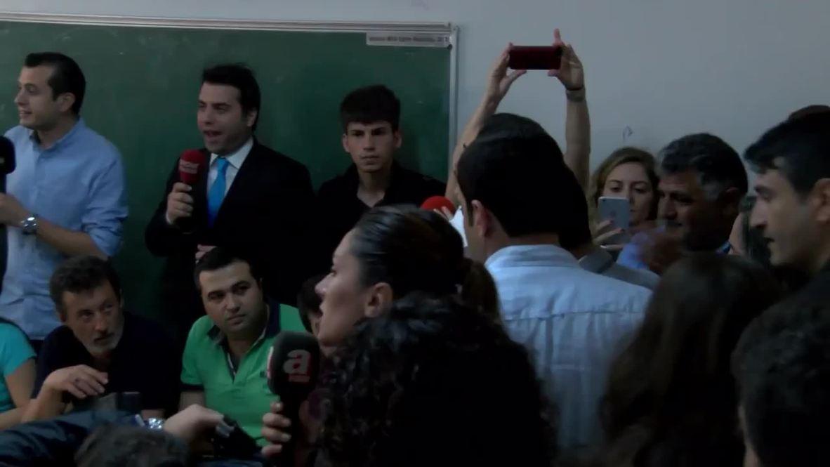 Turkey: HDP leader Selahattin Demirtas casts his vote in parliamentary election