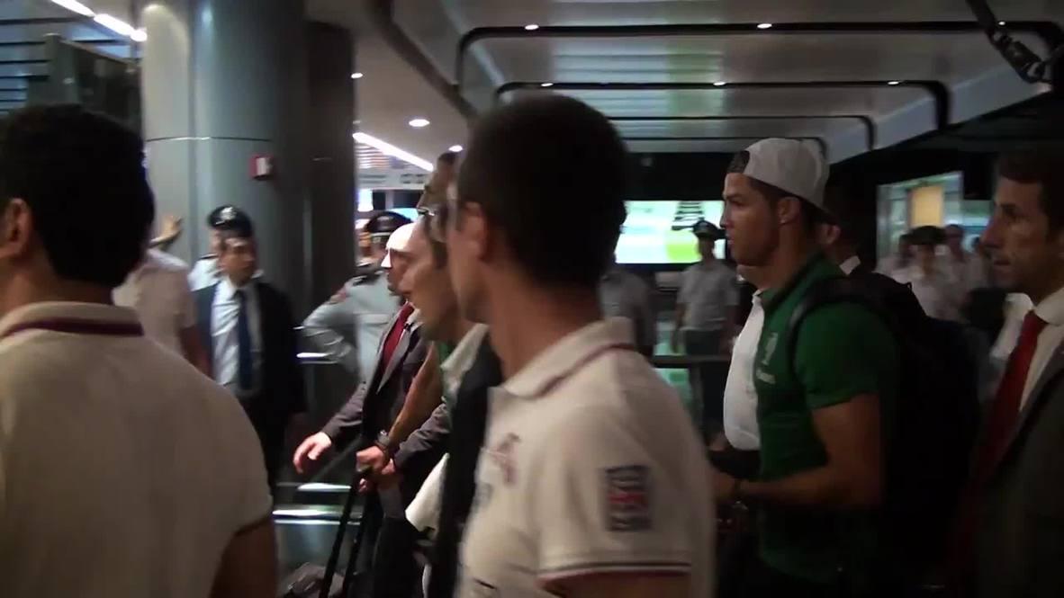 Armenia: Ronaldo arrives in Yerevan ahead of Euro 2016 qualifier