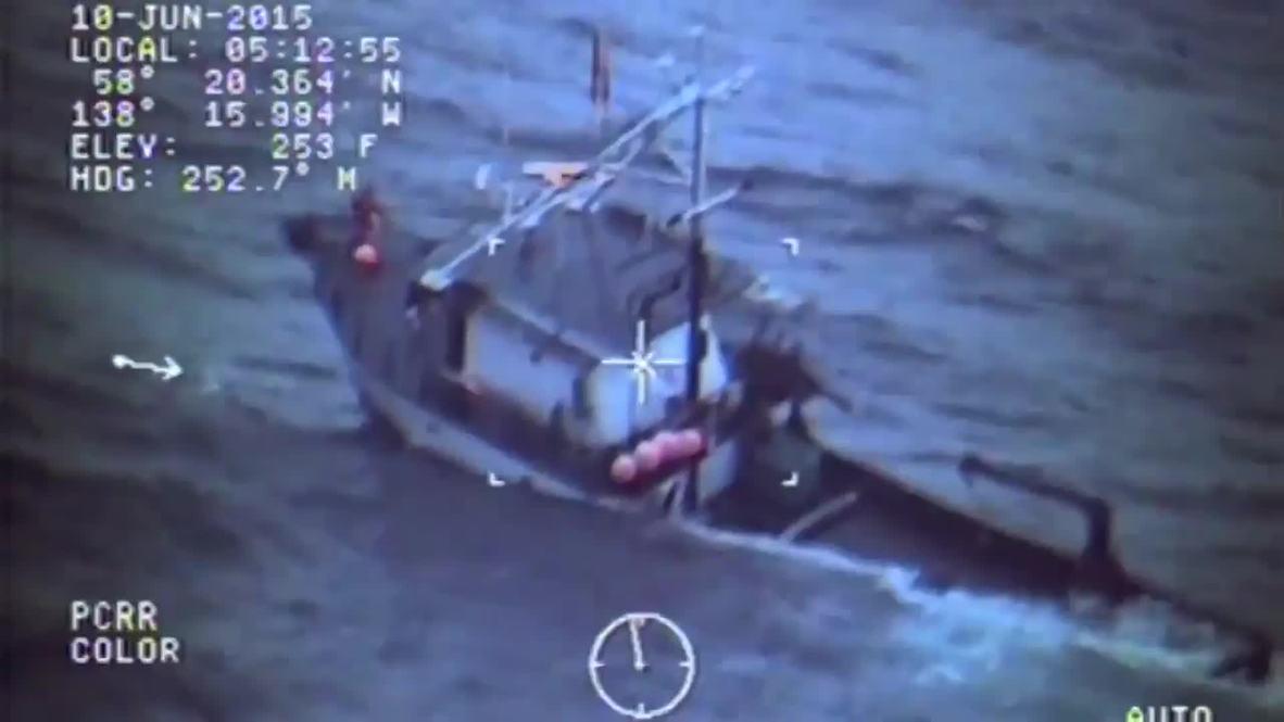 USA: Coastguard rescue 4 fishermen from sinking boat in icy Alaskan waters