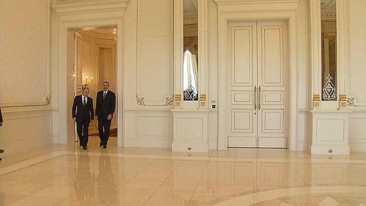 Azerbaijan: Putin meets President Aliyev in Baku for bilateral talks