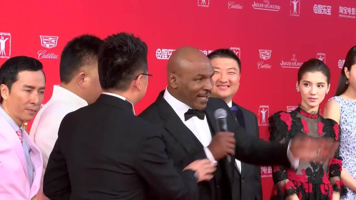 China: Jackie Chan, Mike Tyson hit red carpet for Shanghai International Film Festival