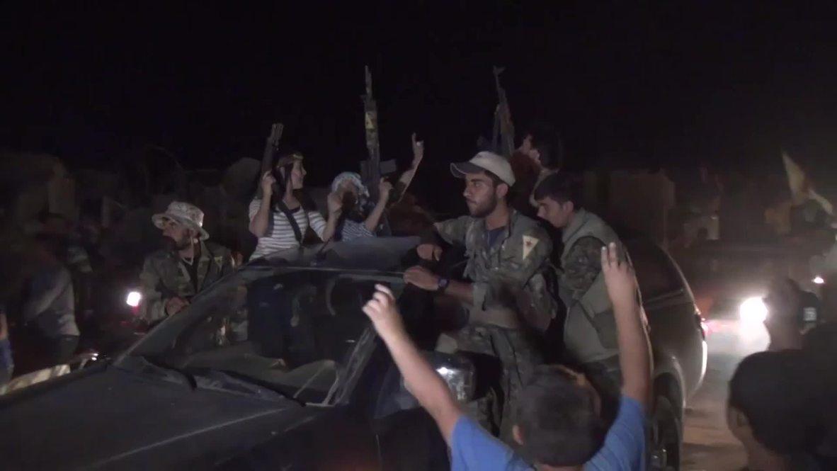 Syria: Kobane celebrates after Kurdish fighters liberate path to Tal Abyad