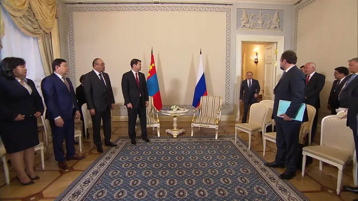 Russia: Mongolia a 'key partner,' says Putin in meeting with PM Saikhanbileg