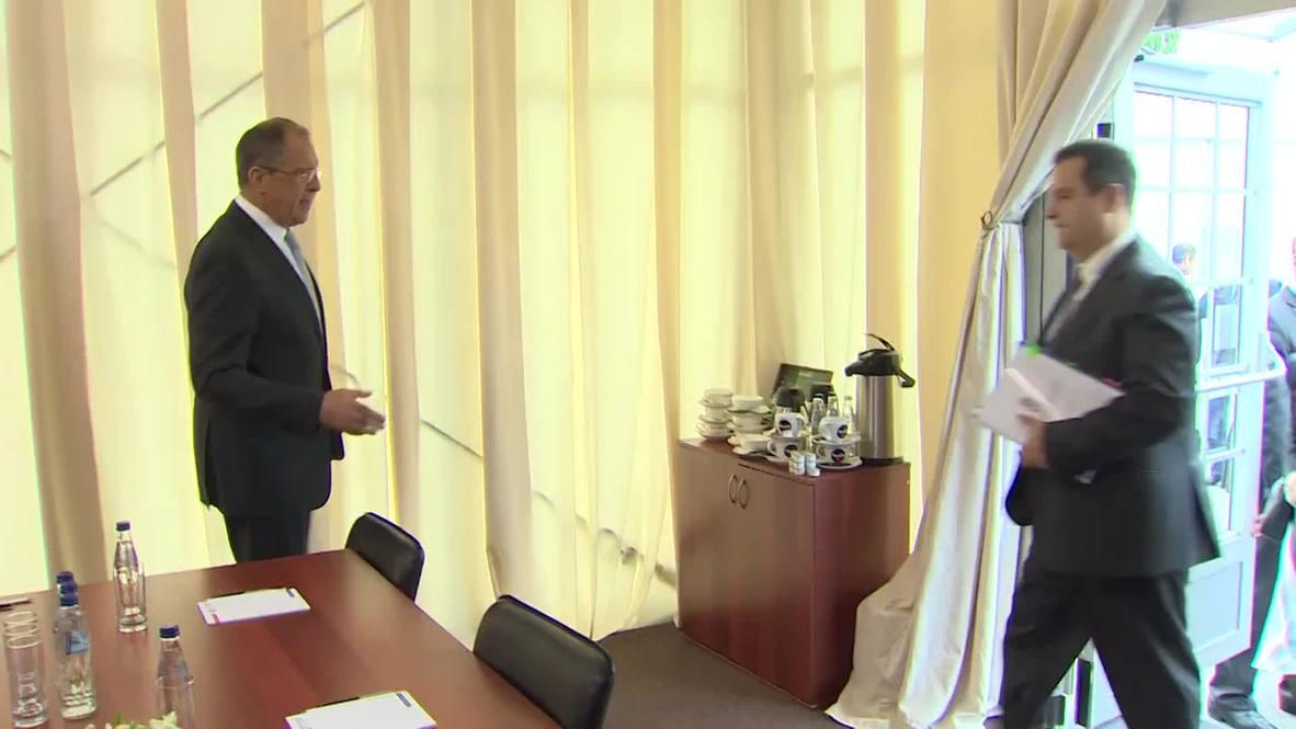 Russia: Lavrov meets Serbian FM Dacic in St. Petersburg