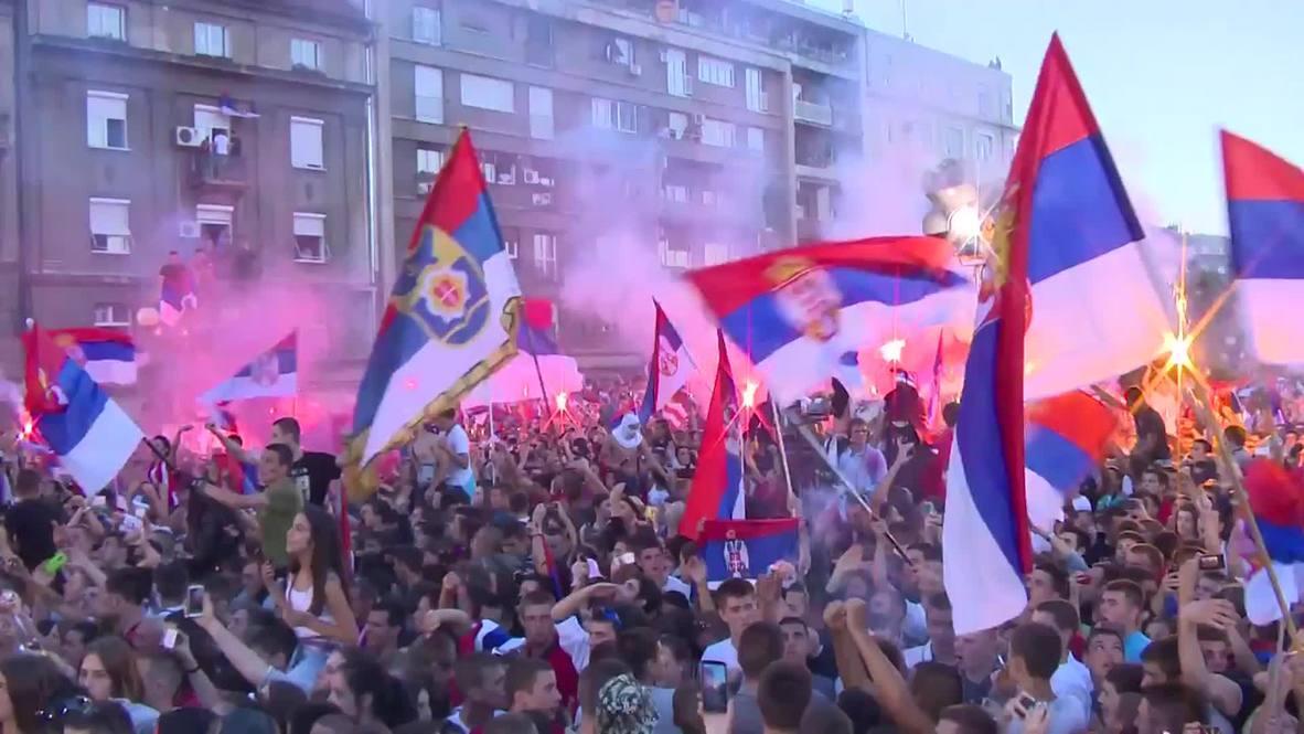 Serbia: Tens of thousands celebrate FIFA U20 World Cup win