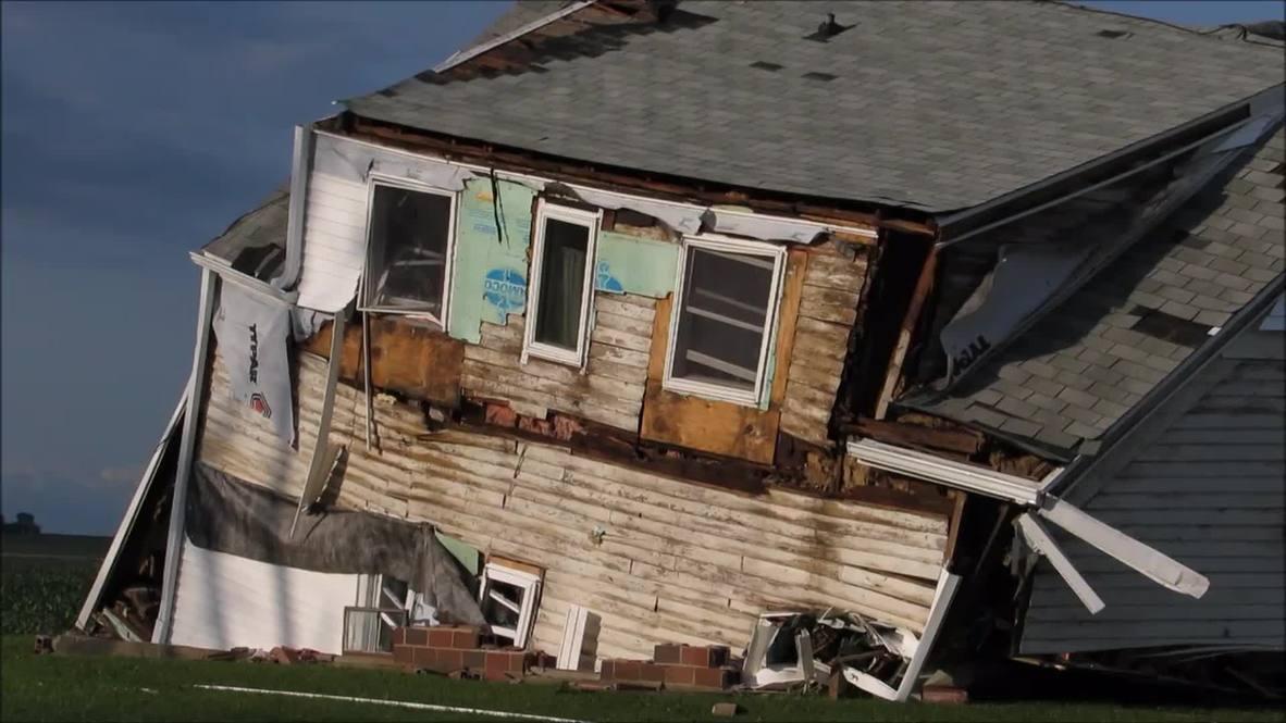 USA: Storms rip through Iowa as tornado season hits the Midwest
