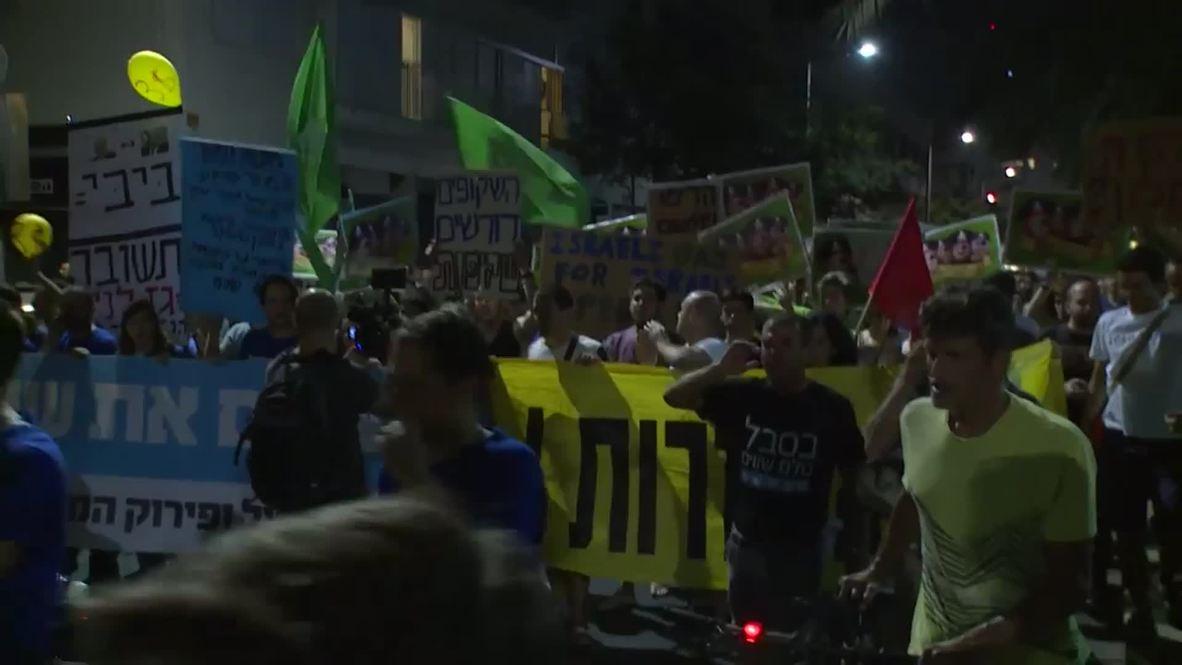 Israel: Hundreds march against US-Israel gas deal in Tel Aviv