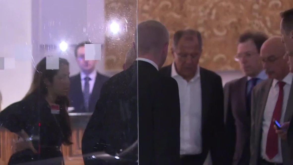 Austria: Lavrov departs Palais Coburg after late-night P5+1 talks