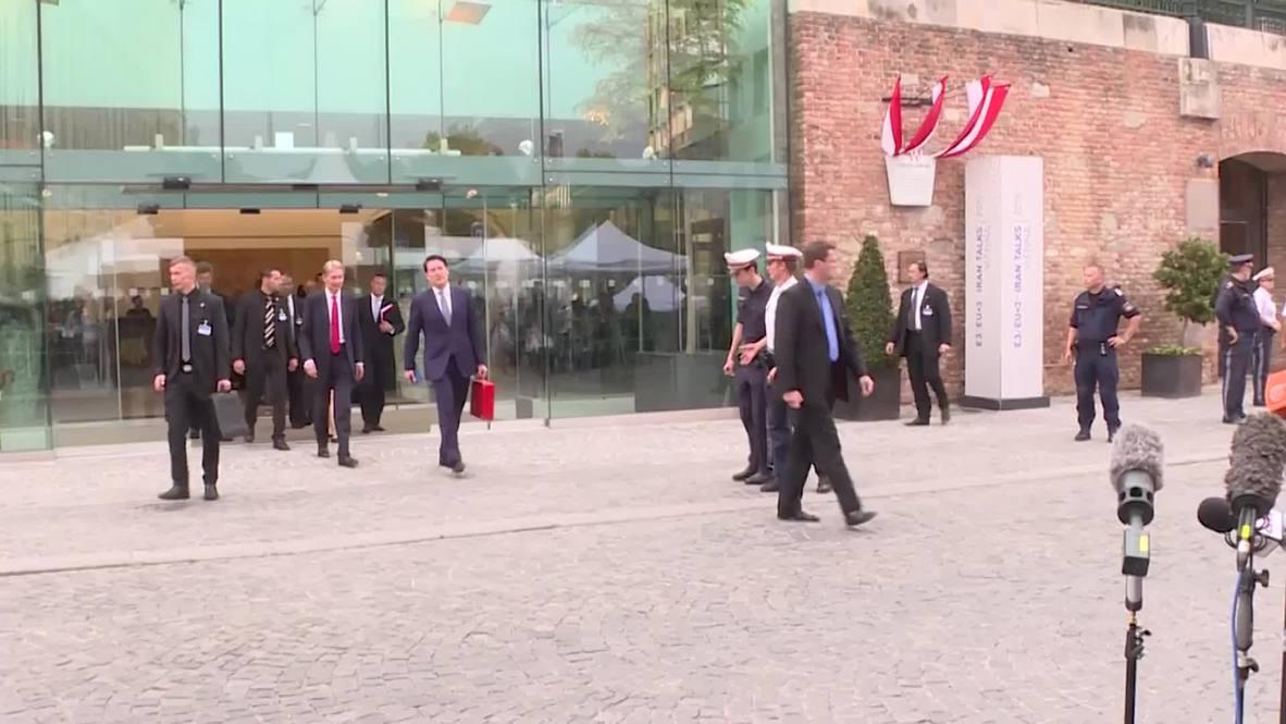 Austria: Iran nuclear talks will continue Thursday, says British FM Hammond