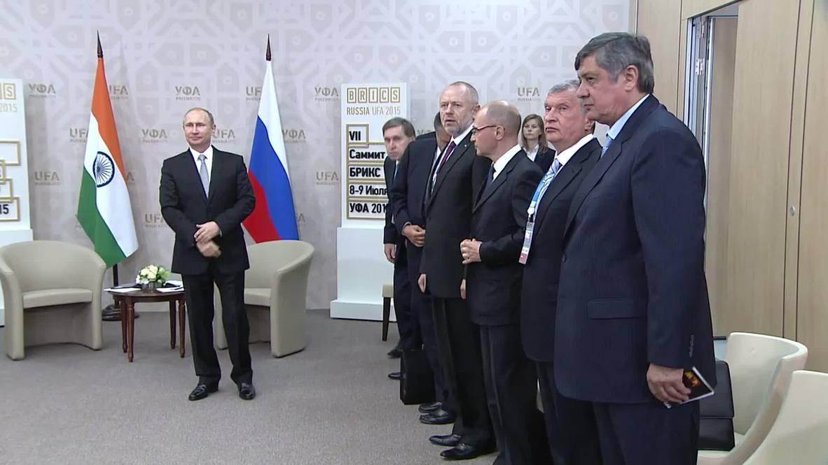 Russia: Putin talks yoga with Indian PM Modi on sidelines of BRICS summit
