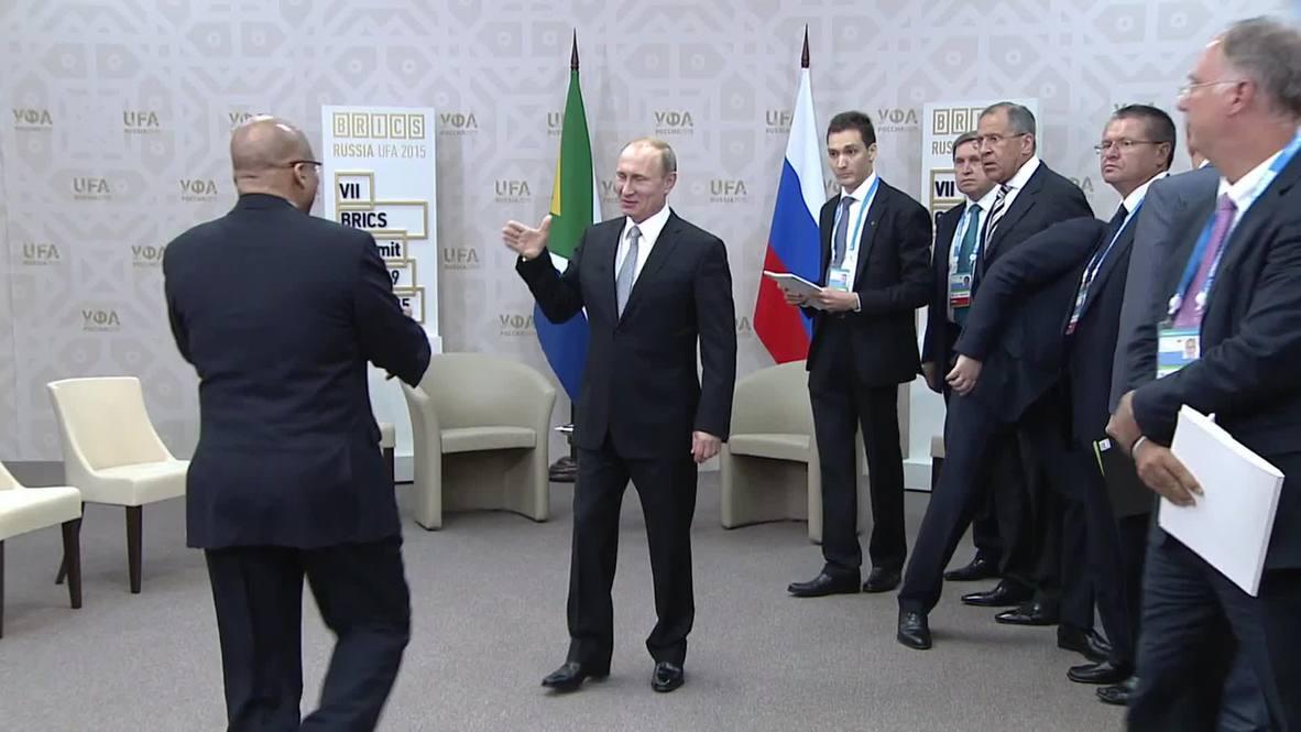 Russia: Putin meets South African President Zuma on sidelines of BRICS summit