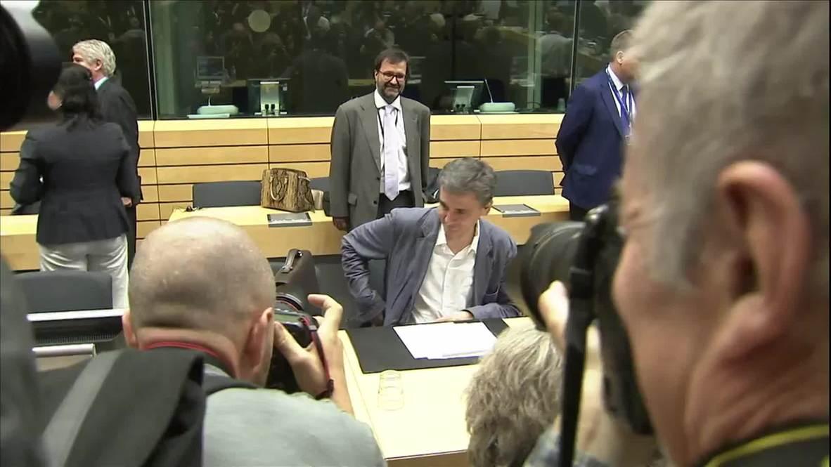 Belgium: Eurogroup ministers begin informal talks over Greek debt deal