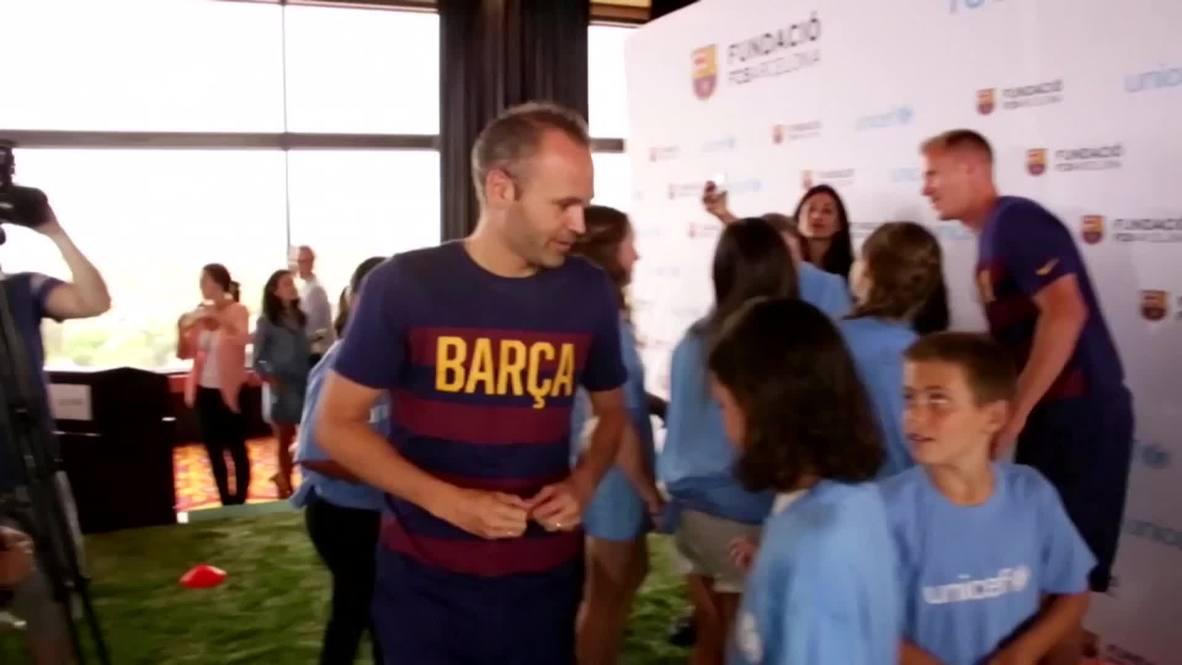 USA: Iniesta  Ter Stegen attend UNICEF event in LA