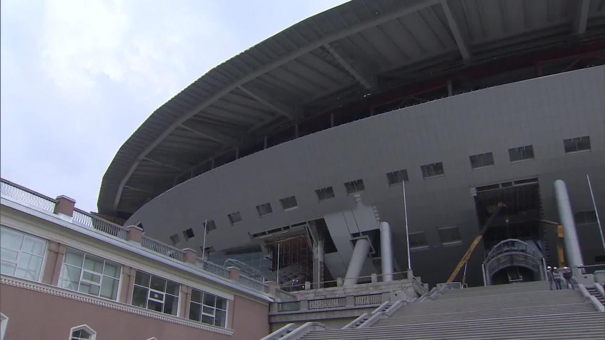 Russia: 69,500 seat World Cup 2018 stadium under construction in St. Petersburg