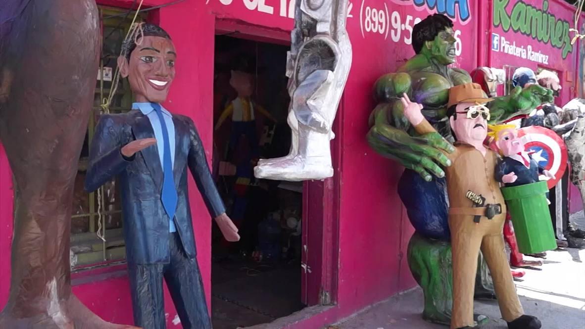 "Mexico: Escaped drug-lord ""El Chapo"" returns ... as a Pinata"