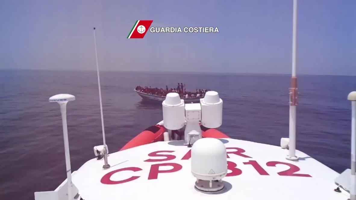 Libya: 888 migrants picked up by Italian coast guard