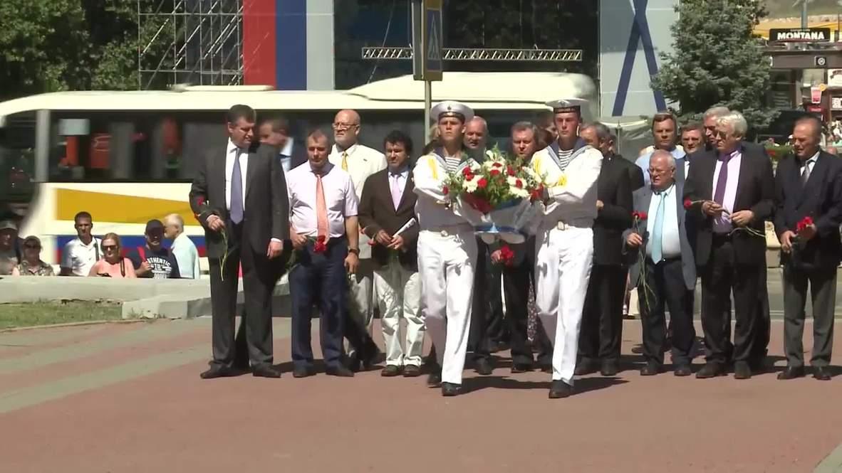 Russia: Defence of Sevastopol combatants honoured ahead of 'Navy Day'