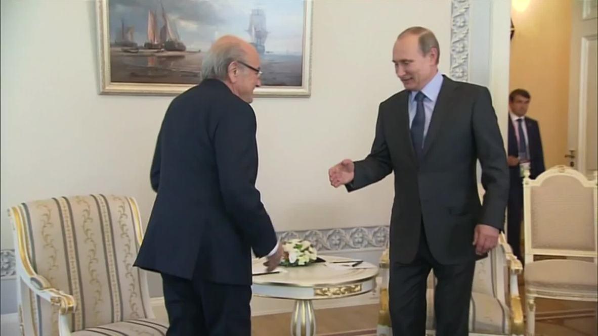 Russia: Blatter tells Putin FIFA supports 2018 Russian World Cup