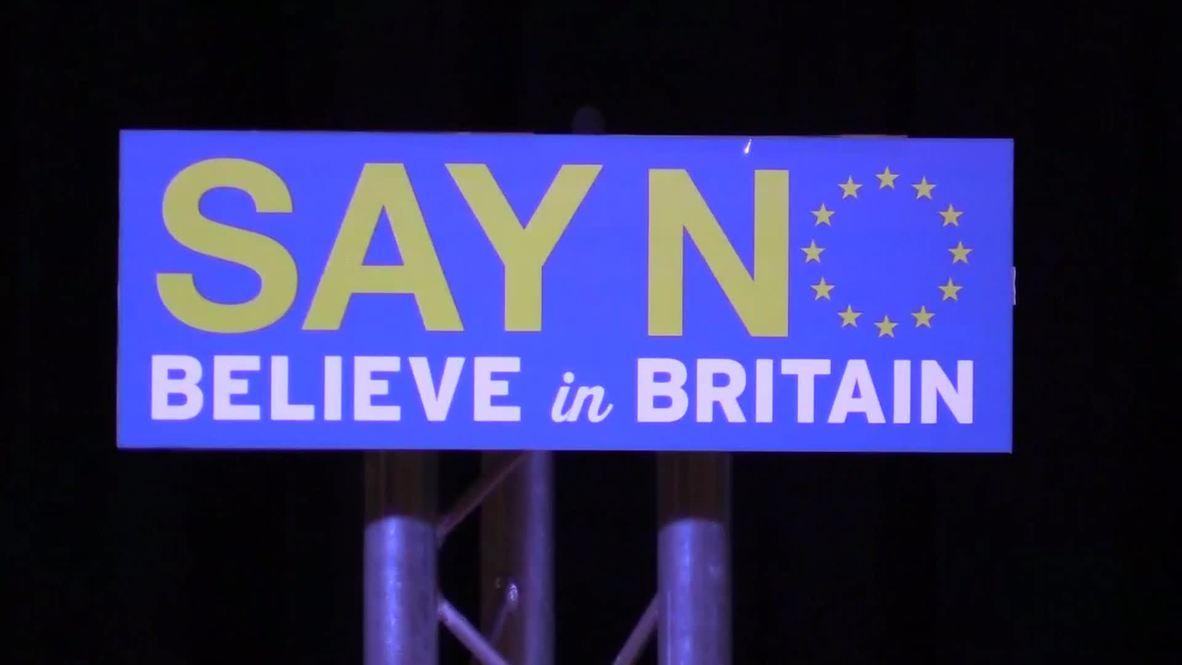 UK: Farage talks Calais migrant crisis at No campaign speech