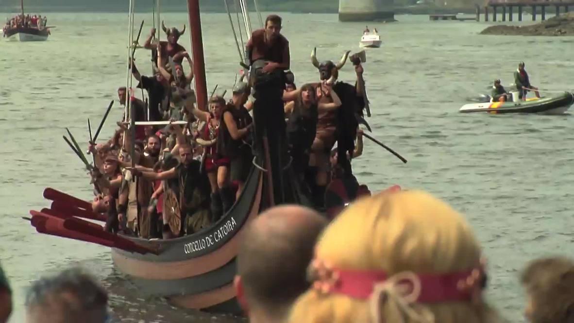 Spain: See fierce Viking raid on coastal town in Galicia