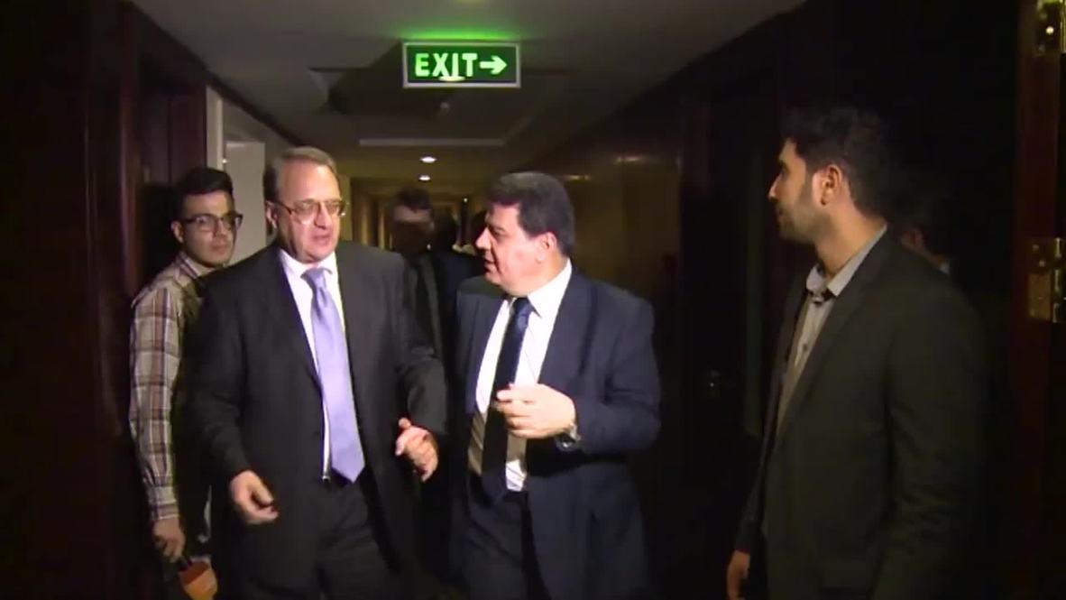 Iran: Russian Deputy FM Bogdanov meets with Syrian FM Muallem in Tehran