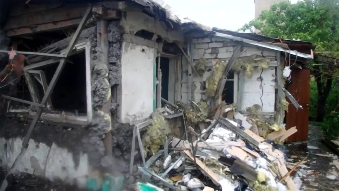 Ukraine: OSCE inspect Donetsk's shell-damaged Kirovsky district
