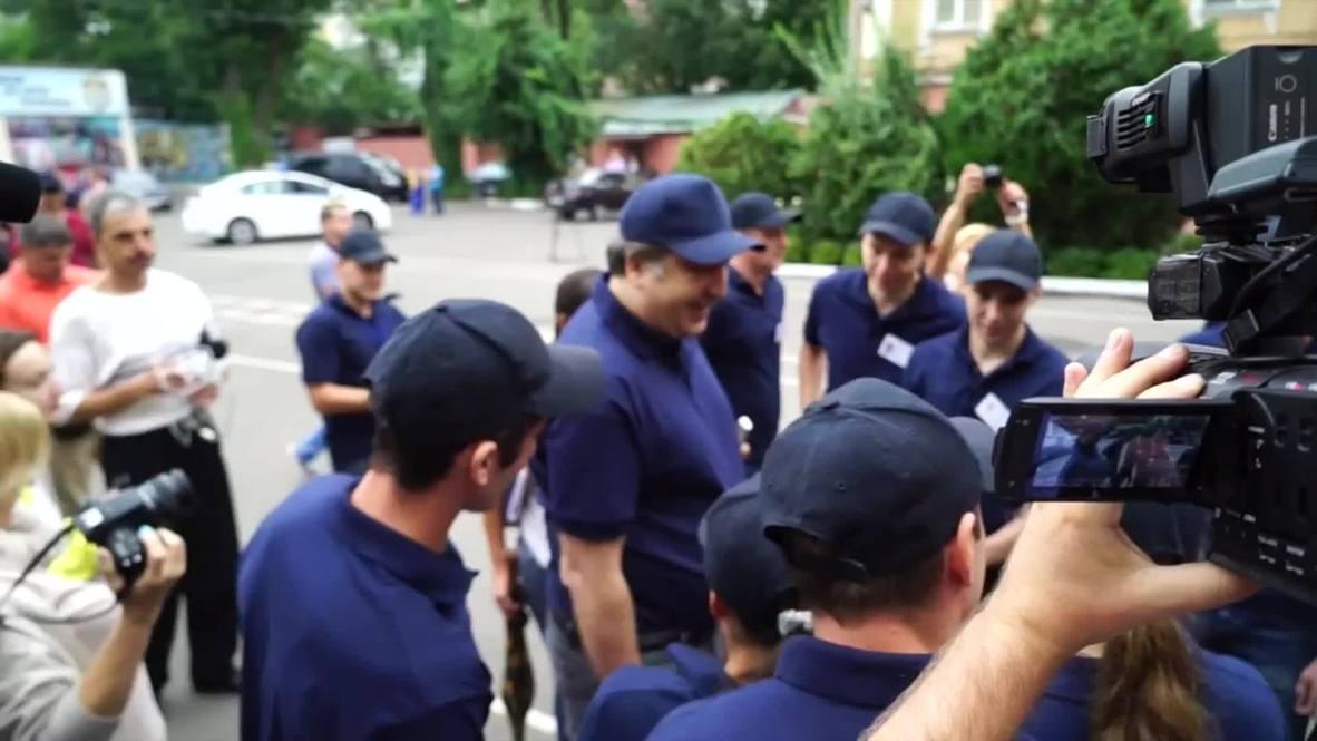 Ukraine: Resisting a rest? Saakashvili leads US-inspired police drills