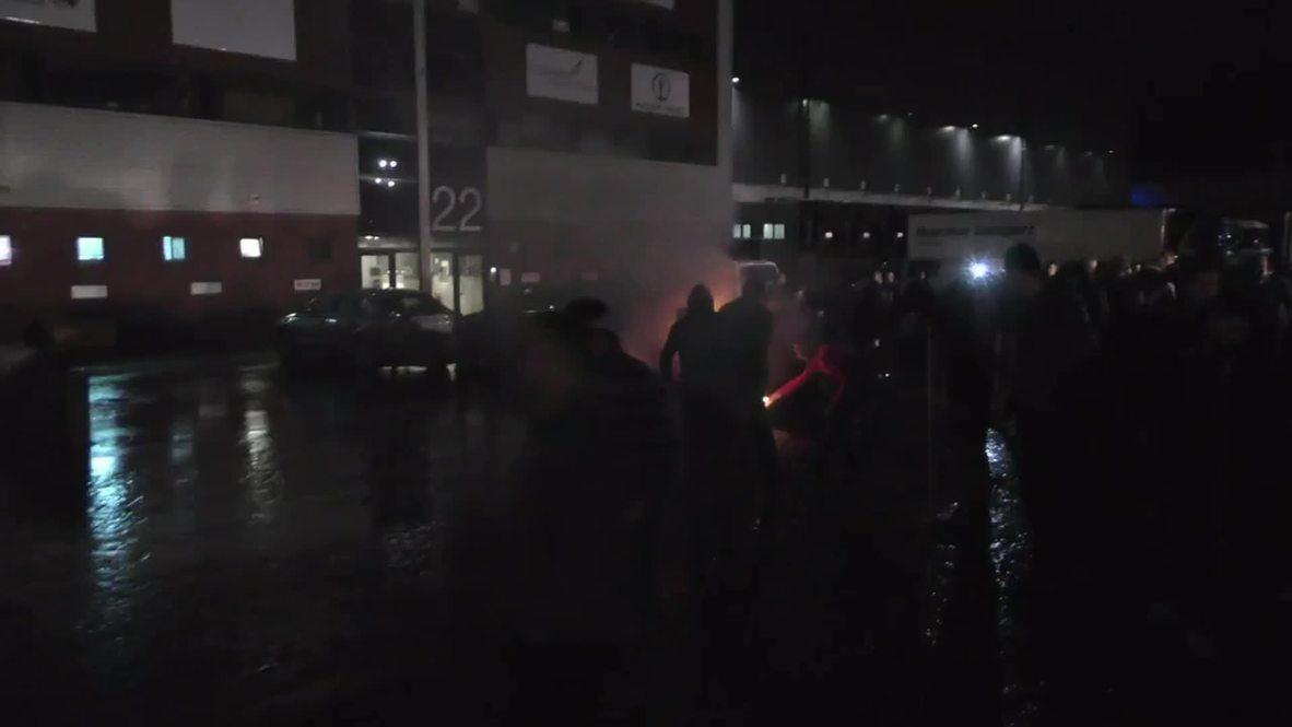 Belgium: Raging farmers block off Liege airport over milk prices