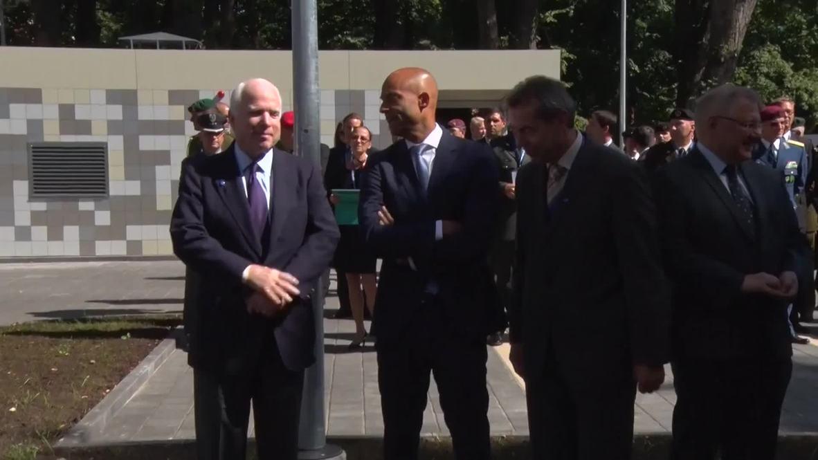 Latvia: McCain talks the importance of NATO and disinformation