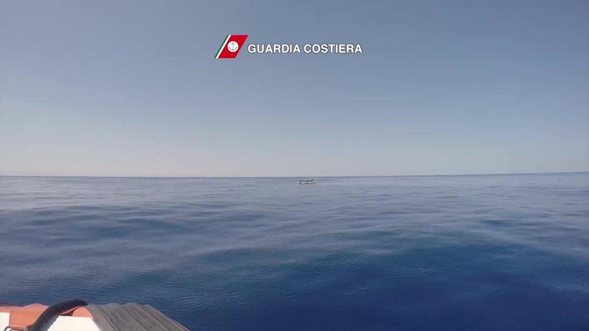 Italy: 111 migrants picked up in Mediterranean by Italian coast guard