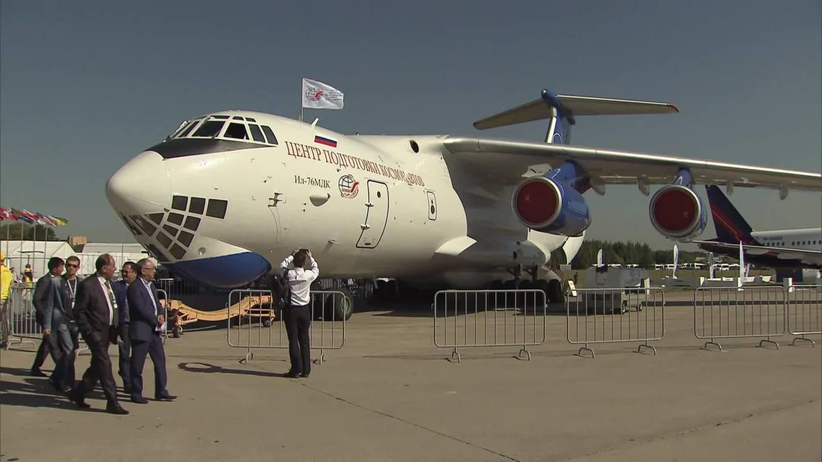 Russia: Zero-gravity IL-76 MDK plane for cosmonaut training wows MAKS-2015