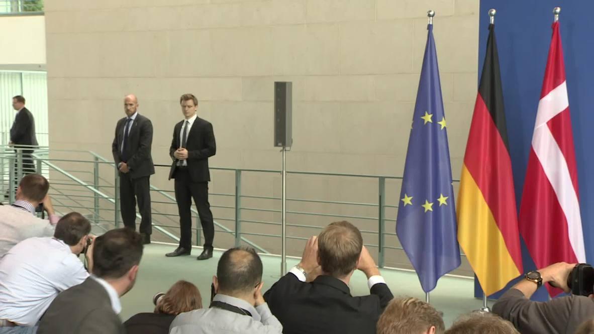 Germany: Merkel and Danish PM Rasmussen discuss refugee crisis