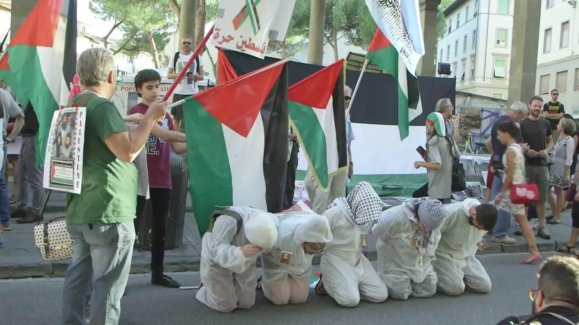 Italy: Pro-Palestine activists protest Netanyahu's Florence visit