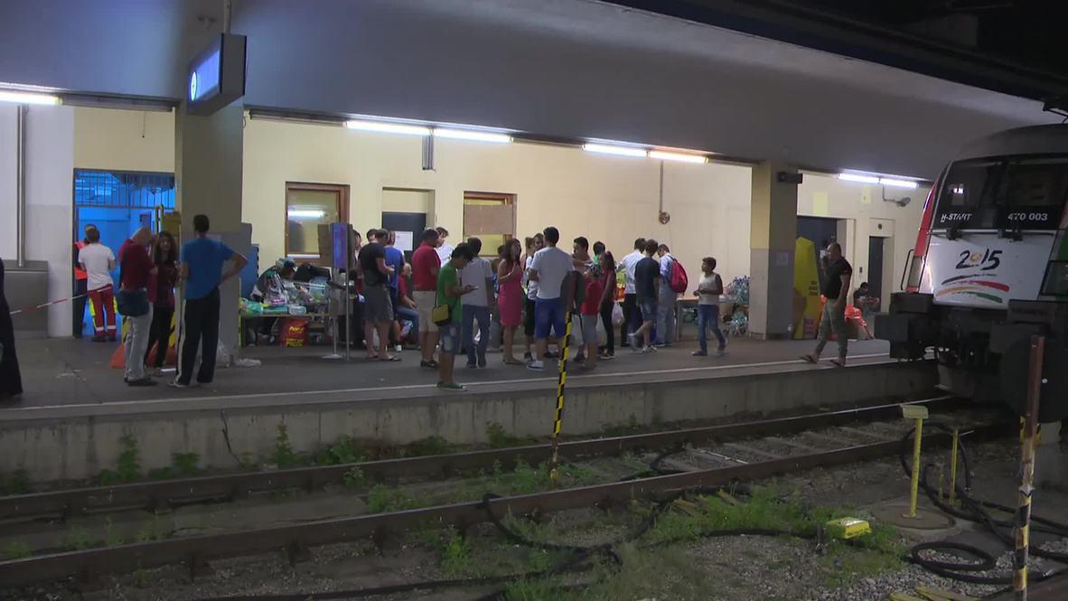 Austria: Refugees stranded in Vienna, sleep on platforms