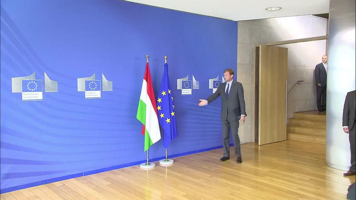Belgium: Juncker meets Hungarian PM Orban on deepening refugee crisis