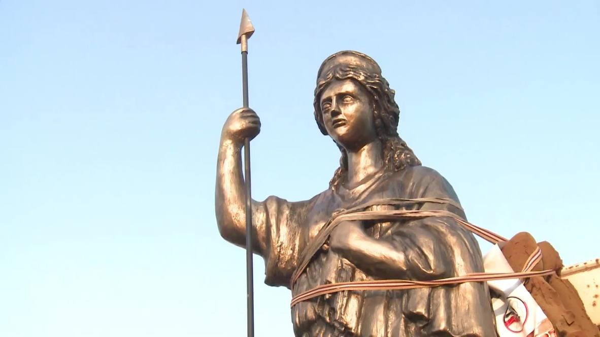 Syria: 'Warrior Queen' Zenobia statue erected in defiance of ISIS