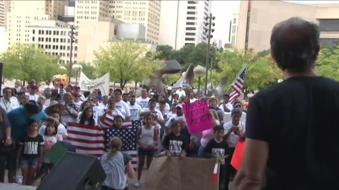 USA: Anti-Trump rally takes Dallas by storm