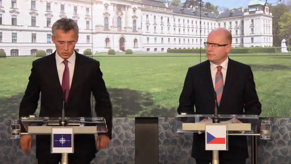 Czech Republic: Stoltenberg talks NATO expansion during Czech visit