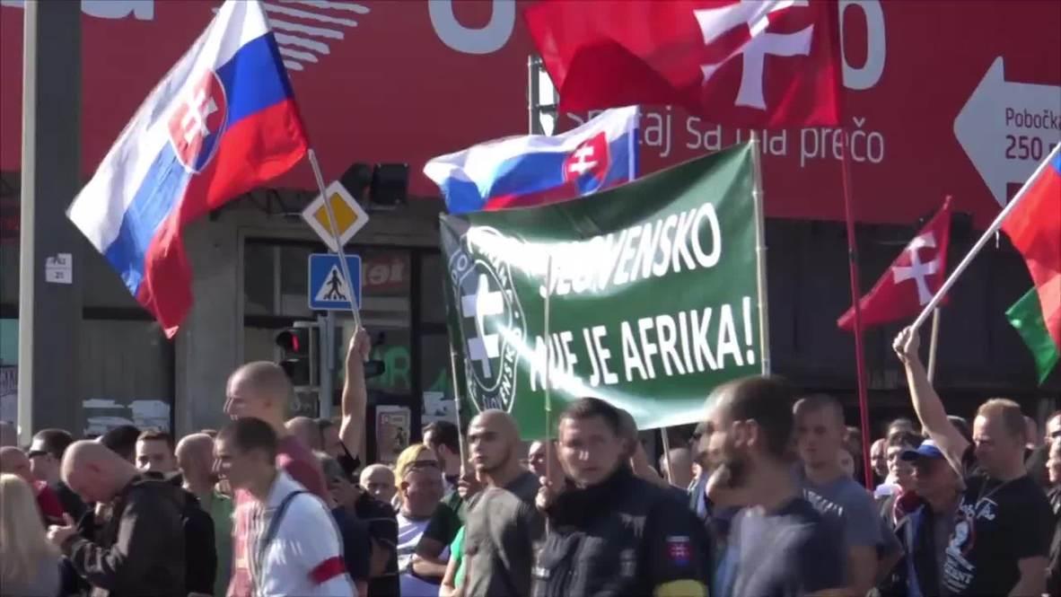 Slovakia: Far-right hold anti-refugee protest in Bratislava