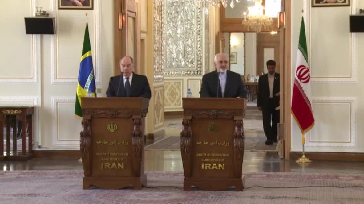Iran: Zarif and Brazilian counterpart discuss fight against terrorism