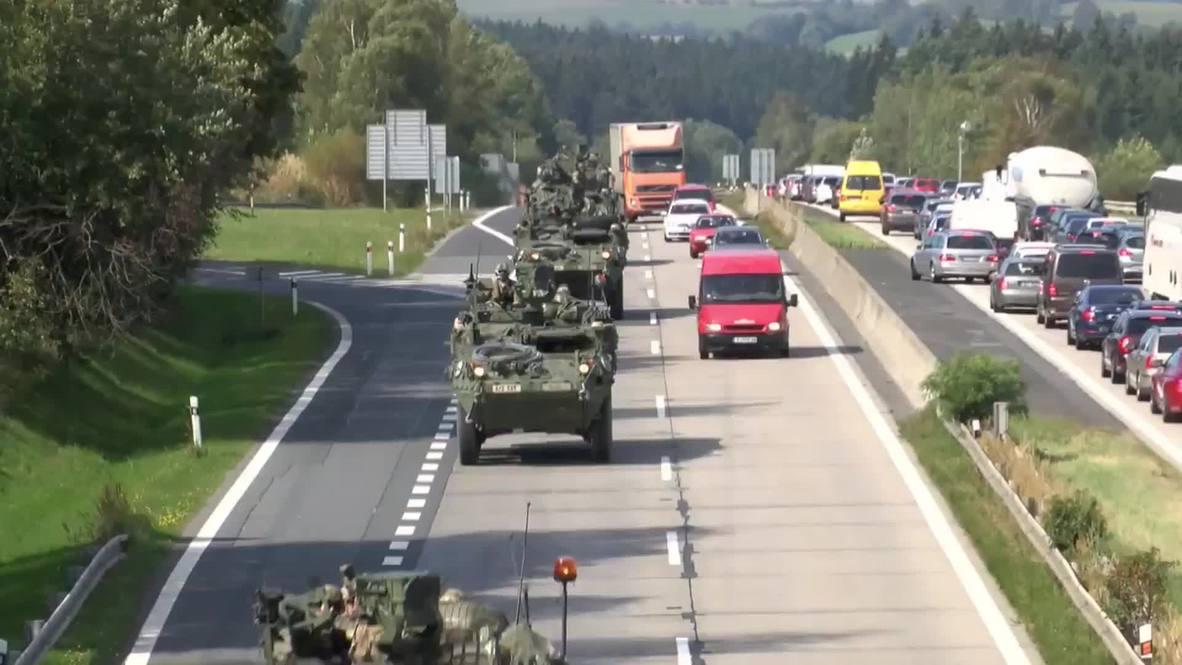 Czech Republic: US military convoy nears Prague