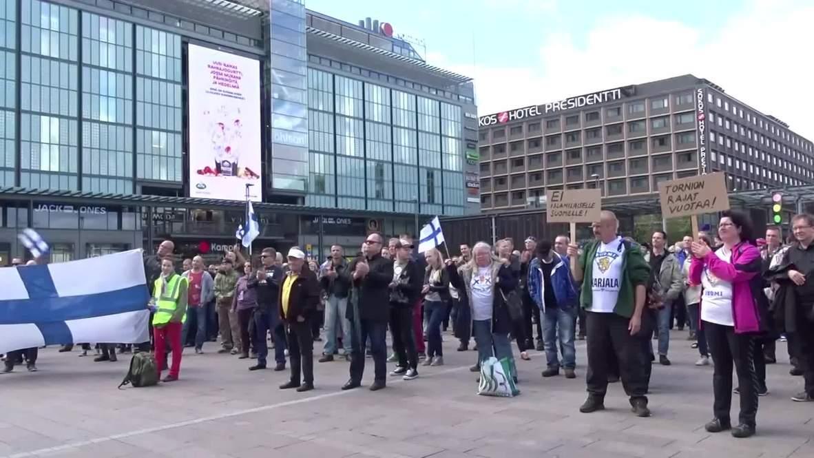 Finland: Anti-migrant, anti-Islam demo hits Helsinki