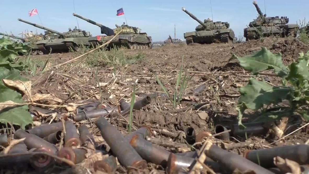 Ukraine: DNR/DPR prepare for tank biathlon